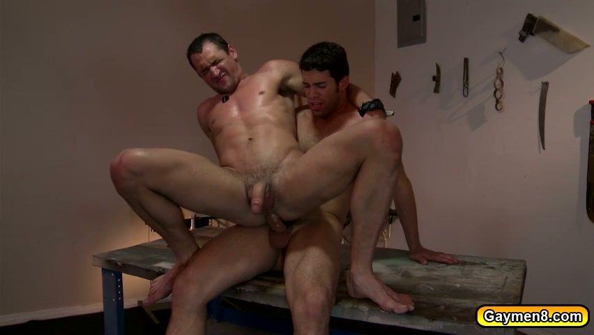 Hairy guys having anus punished
