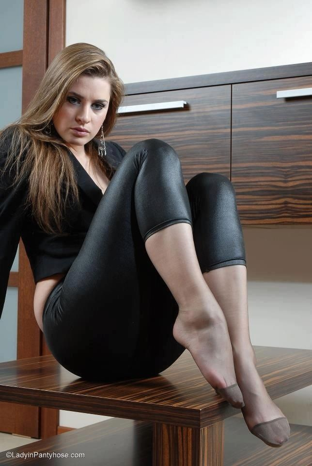 Young skinny pantyhose models