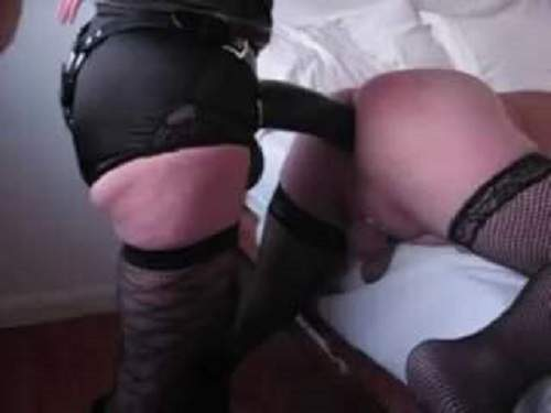 Naughty coed spank