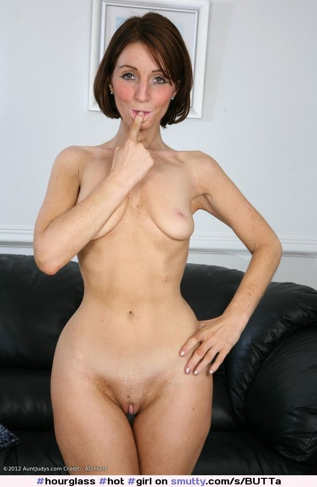Naked woman with tampon