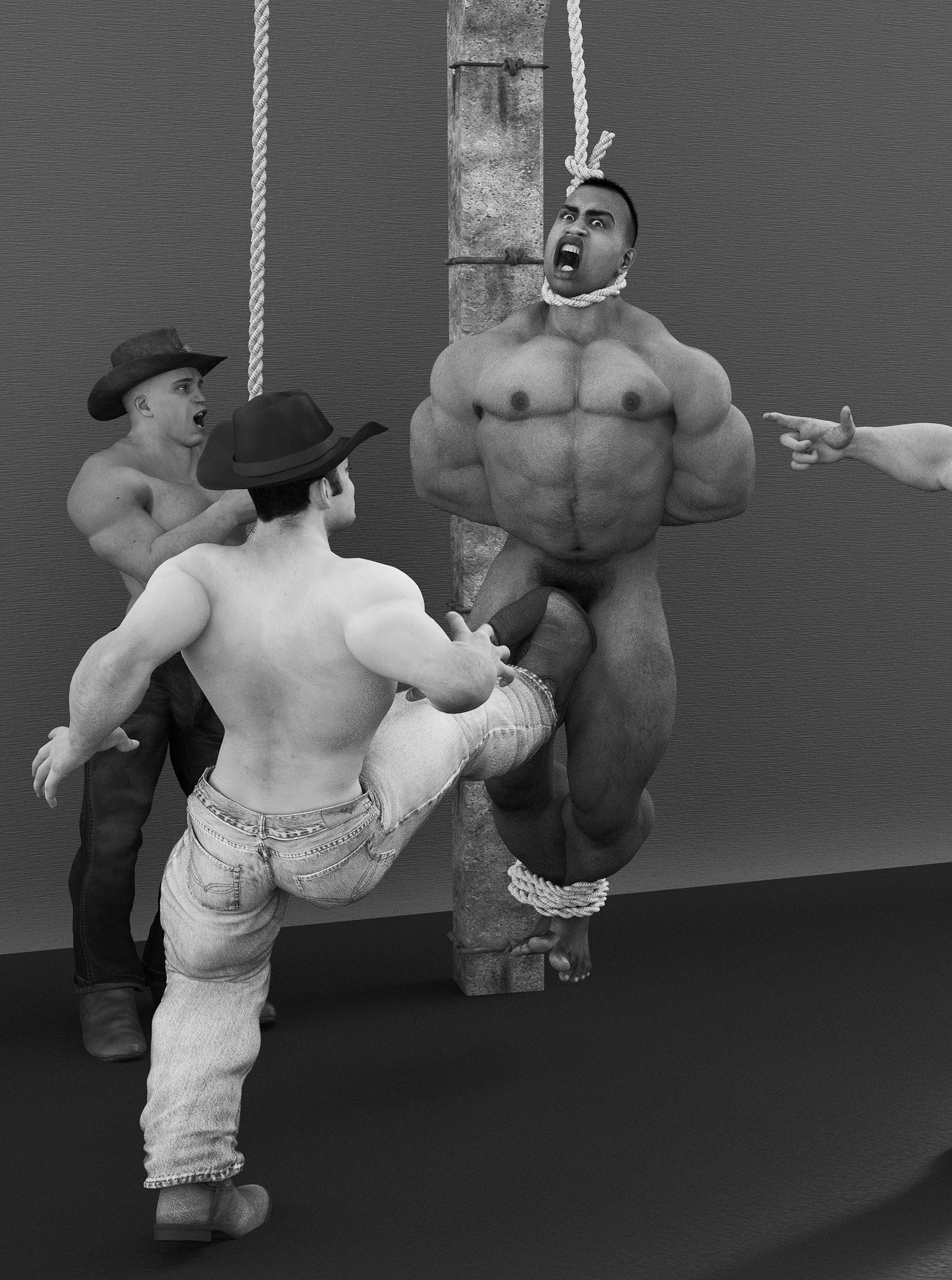 Hang him nude