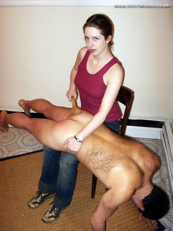 Spanked by her husband