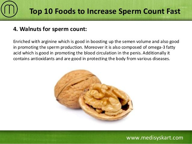Trinity reccomend Increase naturally production sperm