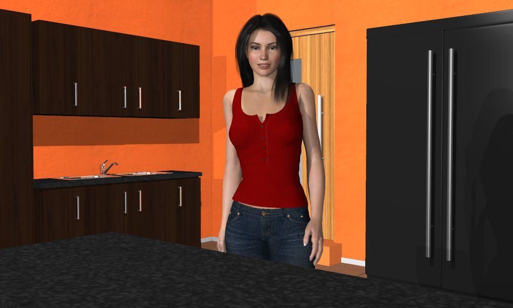 Katie from the kitchen hookup simulator ariane funny