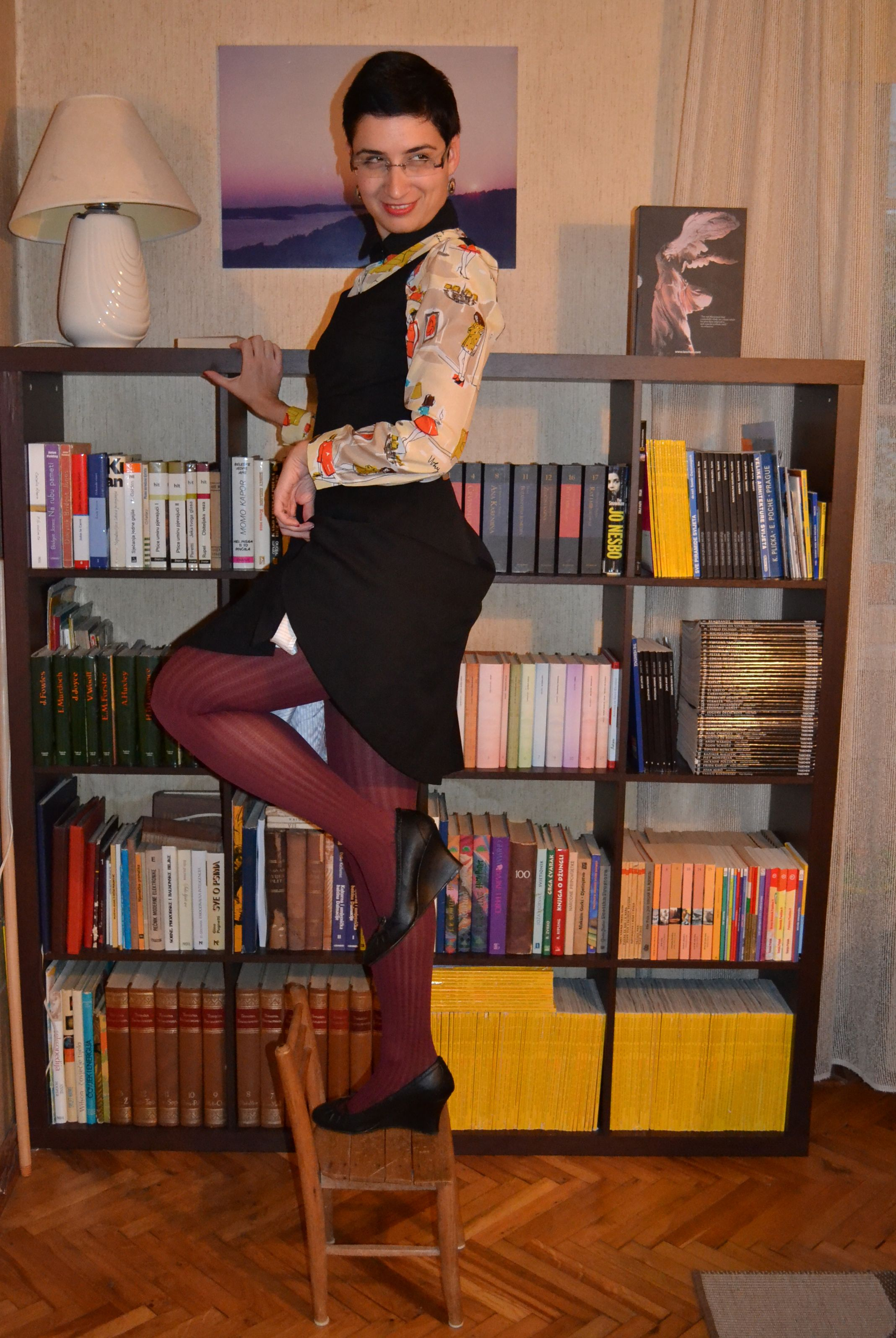 Librarian in pantyhose
