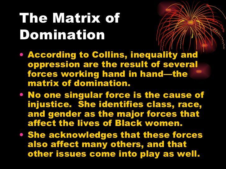 Matrix of domination the black community