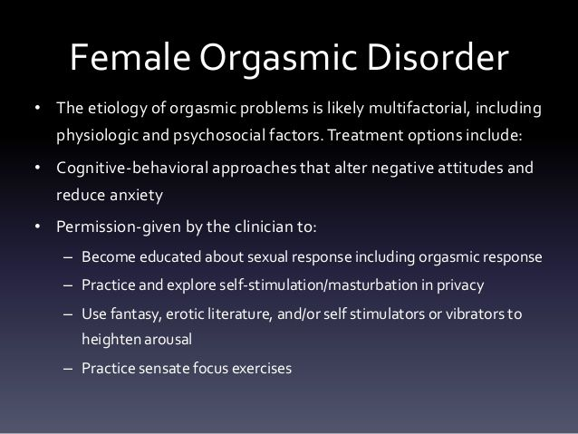 Rocky reccomend Orgasm dysfunction