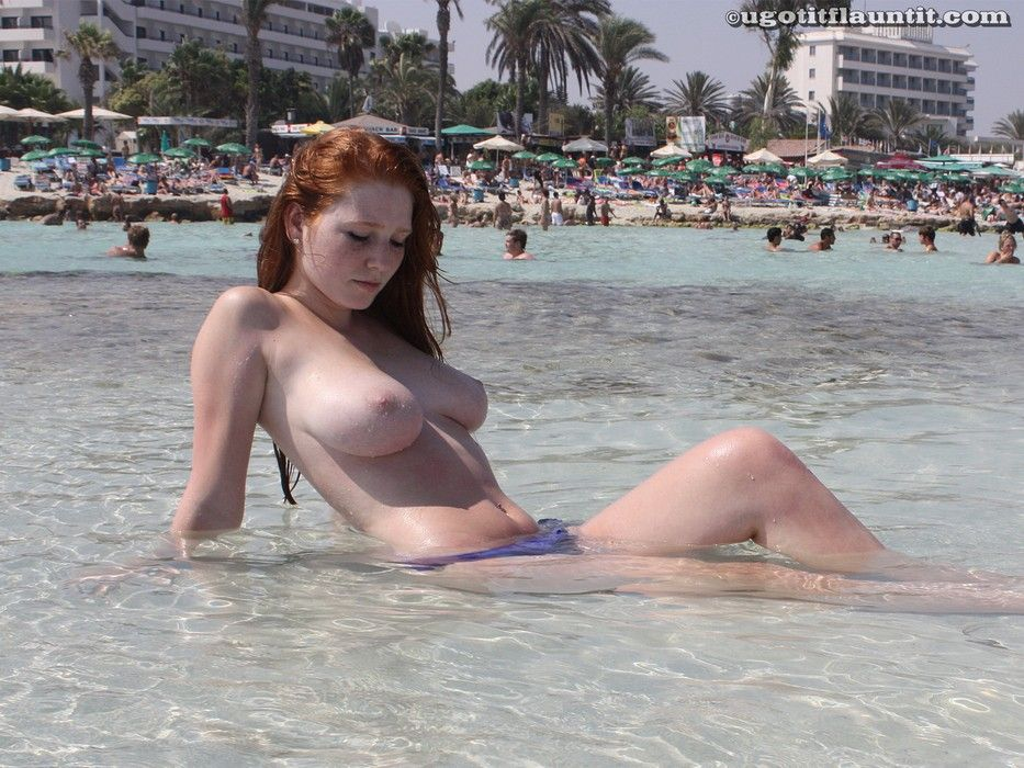 best of Big Redhead beach tits fuck