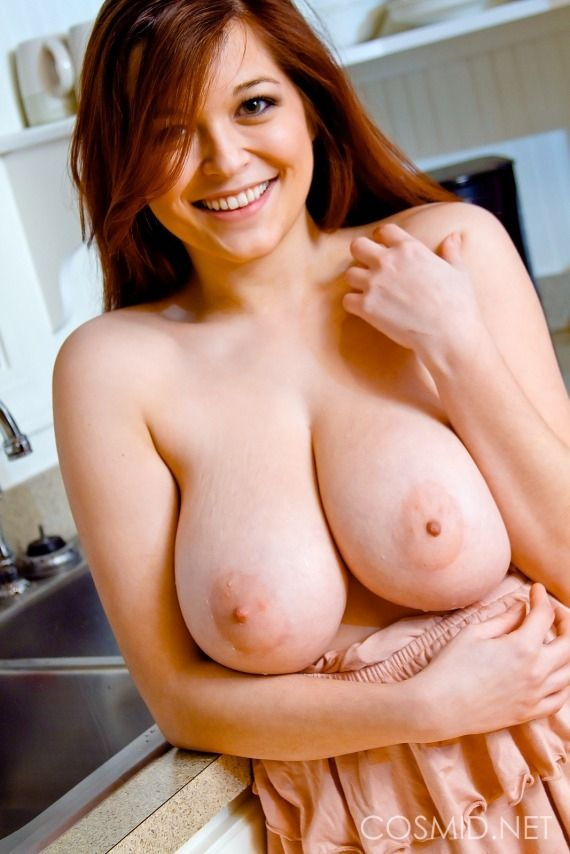 girl Red tits haired