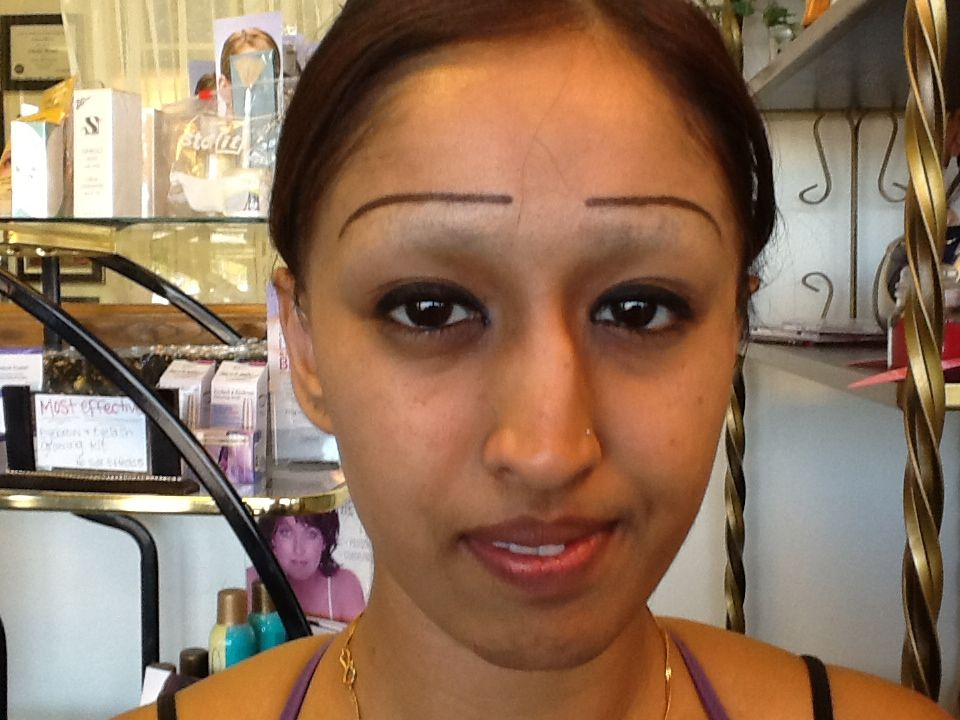 Lines eyebrow shaved