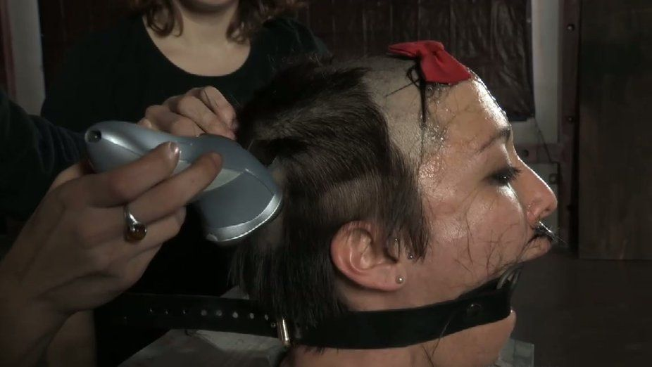 Ladygirl reccomend Slavegirls head shaved when bought