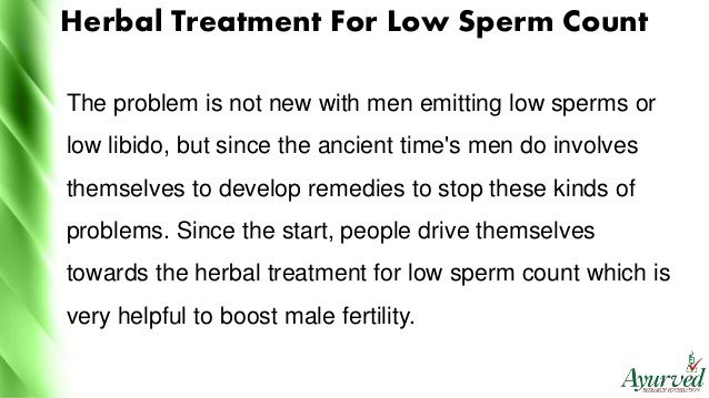 Treatment for sperm count